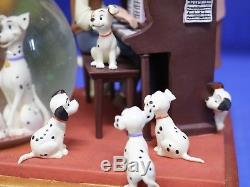 101 Dalmatians Parlor Scene Disney Musical Light up Snowglobe