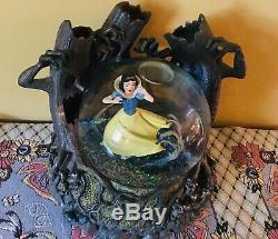 10 Disney Snow White Haunted Woods Lighted Animated Musical Snow Globe Trees