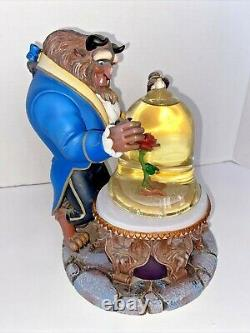 1991 Disney Collection Beauty and the Beast Musical Snow Globe 9.5 tall. READ