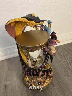 1992 Disney Aladdin Hourglass Musical Light Up Snow Globe Arabian Nights Flaws