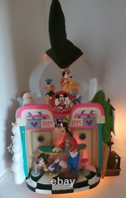 1995 Disney World Exclusive Mickey Mouse Club Clubouse Musical Snow Globe RARE