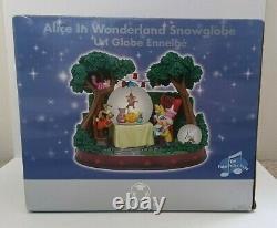 2008 Disney Store Alice In Wonderland Musical Snowglobe Unbirthday damaged