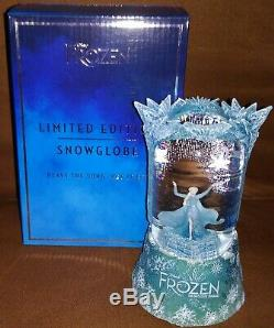 2019 Disney Frozen Broadway Musical Elsa Let it Go Snowglobe Limited Edition