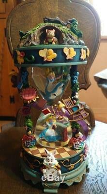 25th Anniversary Disney Store Japan Alice In Wonderland Snow Globe Music Box NM