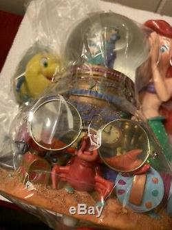 ARIEL Disney Little Mermaid MUSICAL Snow Globe Under The Sea Song. New Read