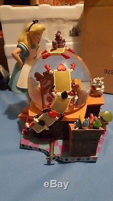 Alice In Wonderland 50th Anniversary Disney Snow Globe Music Box, Very Rare