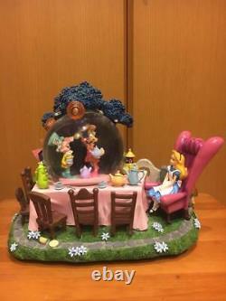 Alice Snow globe Tea party Music box Figure dome White Rabbit light Ornamentdoll