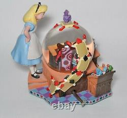 Alice in Wonderland 50th Anniversary Musical Snowglobe Alice's Trial Disney