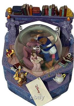 Beauty and the Beast Library Disney Store Musical Snow Globe 1991 NWT No Box