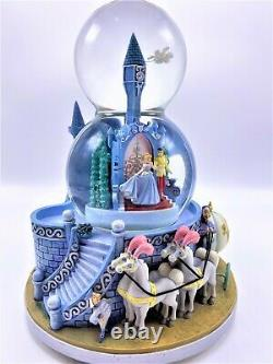 Cinderella Wedding double Musical Snow Globe with motion
