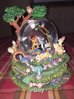 DISNEY Bambi Little April Showers Musical Snow Globe