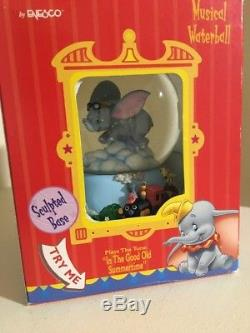 DISNEY Dumbo Musical Snow Globe-NO BUBBLE! With Original Packaging HTF Vintage