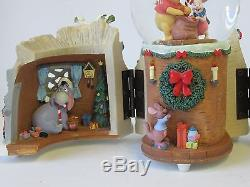DISNEY Holiday Winnie the Pooh Snow Globe 1963 Wonderland Music Co Mr. Sander #02