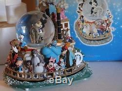 DISNEY Mickey's 75th Anniversary Steamboat Ride musical snow globe