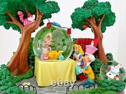 DISNEY STORE Alice in Wonderland Tea Party Snow Globe Musical Figurine