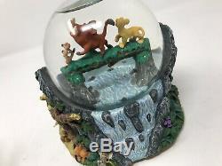 DISNEY The Lion King Musical Snow Globe HAKUNA MATATA Simba Timon Pumba RARE