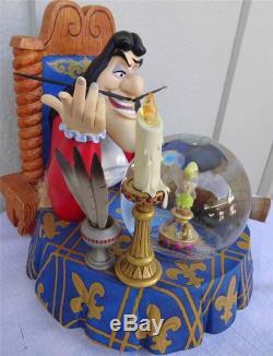 DISNEY Villain Captain Hook Tinkerbell Peter Pan Musical Snowglobe Retired RARE