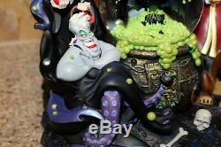 DISNEY Villains Snowglobe Snow Dome Music Box Maleficent Jafar READ DESCRIPTION