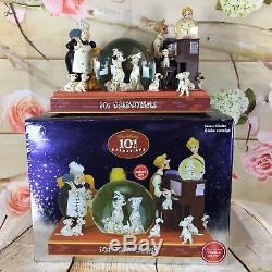 Disney 101 Dalmatians Light Up 8.5 Tall Musical Snowglobe Plays Cruella De Vil