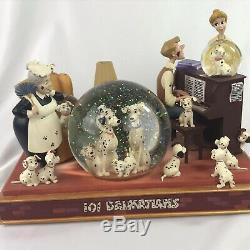 Disney 101 Dalmation Musical 3 Snow Globe Tune Cruella De Vil & Working Light