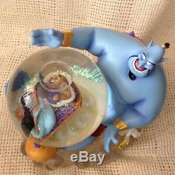 Disney ALADDIN JASMINE & GINNIE Musical Motion Figurines SnowGlobe-MIB