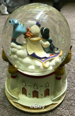 Disney ALADDIN Jasmine Genie Musical Snowglobe A Whole New World-RARE