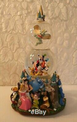 Disney A Magical Gathering Double SnowGlobe Water Globe Castle Music Parade RARE