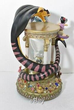 Disney Aladdin Hourglass Musical Snow Globe Lights Up Arabian Nights