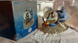 Disney Aladdin Jasmine Take A Magical Ride Snow Globe Musical Collectible Gift