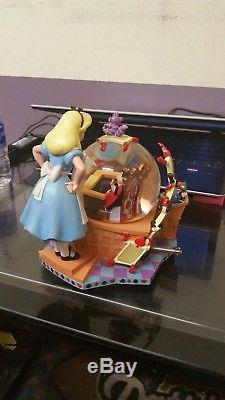 Disney Alice In Wonderland 50th Anniversary Alice's Trial Musical Snow Globe