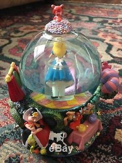 Disney, Alice In Wonderland, Drink Me Musical Snow Globe Working, Rare HTF