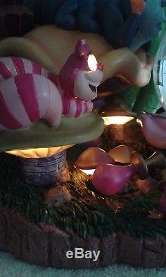 Disney Alice In Wonderland Light Up Musical Snow Globe (Extremely Rare)
