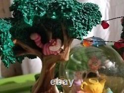 Disney Alice In Wonderland MUSICAL Snow Globe Mad Hatter's Tea Party Unbirthday