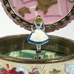 Disney Alice In Wonderland Rare Collectible Music Box EUC