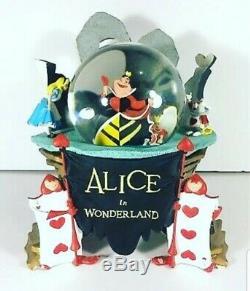 Disney Alice In Wonderland musical Snow Globe Excellent Condition + Box X