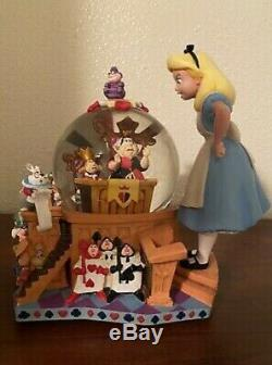 Disney Alice in Wonderland 50th Anniversary The Trial MUSICAL Snowglobe Rare