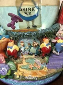 Disney Alice in Wonderland Snow Globe Dome Music Box Discontinued Item