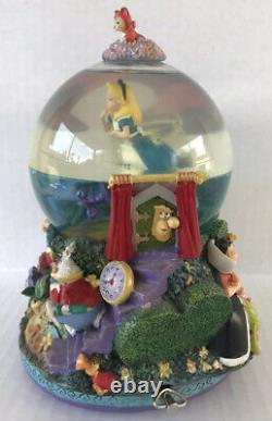 Disney Alice in Wonderland Snow Globe Drink Me Music Box In The Golden Aftern