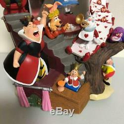Disney Alice in Wonderland Snow Gloves Snow Dome Music Box