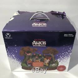 Disney Alice in Wonderland Unbirthday Tea Party Musical Snow Globe Good Cond