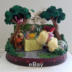 Disney Alice in Wonderland Unbirthday Tea Party Musical Snowglobe Snow Globe New