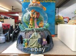 Disney Animated and Musical Hercules Snow Globe 8 1/2 tall