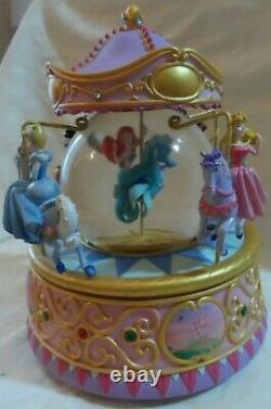 Disney Ariel & Princesses Snow Globe Carousel Music Box