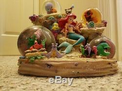 Disney Ariel The Little Mermaid Snowglobe Musical Snow Globe Under The Sea