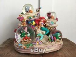 Disney Ariel Under The Sea Musical Snow Globe Symphony 1988 Princess