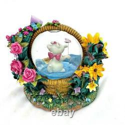 Disney Aristocats RARE Musical Snow Globe Marie Waltz of the Flowers