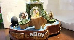 Disney Auction 500limited Peter Pan 50th Neverland Snow globe Music box Snowdome