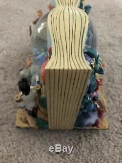 Disney Authentic Little Mermaid Snow Globe Musical Under The Sea Two Sided Book