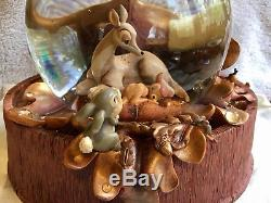Disney Bambi 60th Anniversary Musical Snow Globe April Showers New Old Stock