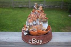 Disney Bambi 60th Anniversary Rare Musical Snow Globe